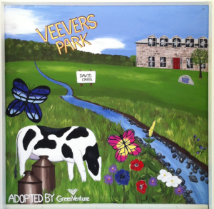 Completed Veevers Park mural, painted by Jotthi Bansal