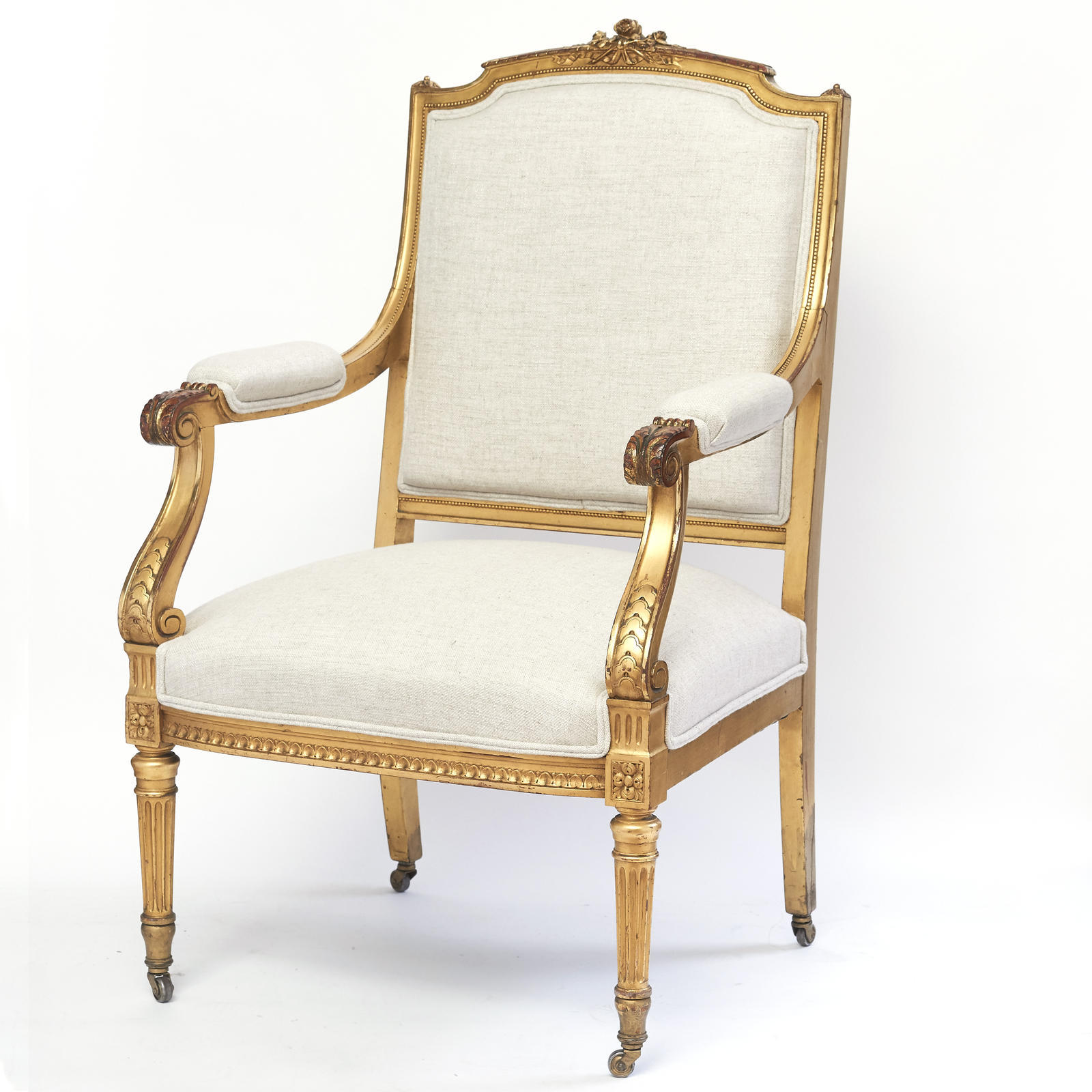 Fauteuils Tiffany Louis Xvi Style Gilt Wood Fauteuil Catalogue View Greenwald