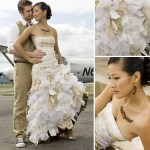 textured wedding dress