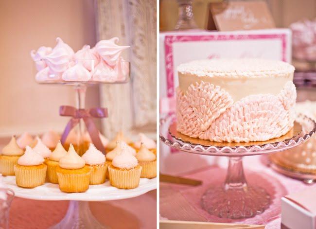 A Sweet Pink Dessert Table Green Wedding Shoes