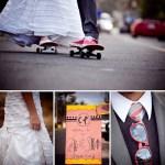 skateboard wedding session