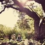 kids in love under tree