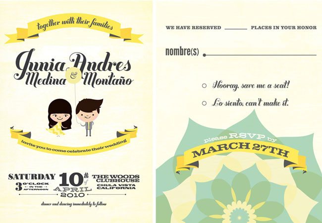 Fun Wedding Invitations + Save the Dates
