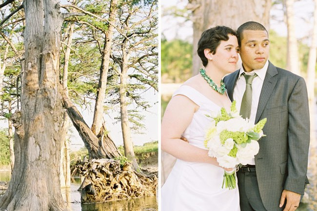 wedding near a swamp