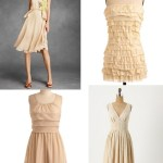 blush peach bridesmaids dresses