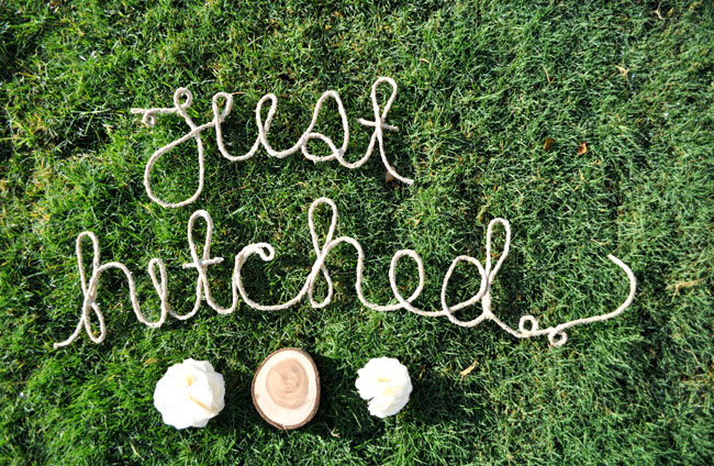 just hitched rope words diy