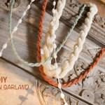 yarn garland diy