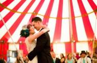 circus wedding first dance