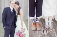 bride's glitter lace up shoes