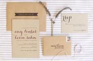 kraft paper caligraphy invitation