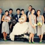 bridesmaids green shoes