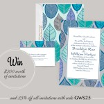 Modern Leaf Wedding Invitations