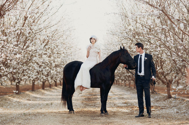 almond orchard styled shoot