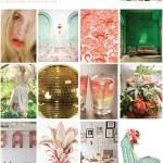 pink green inspiration board