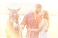 fall horse engagement