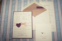 purple heart tag invitation