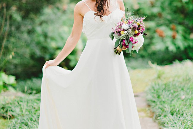 flowy wedding dress