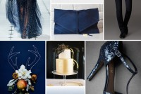 inspiration board midnight blue geode