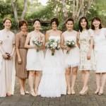 nuetral toned bridesmaids