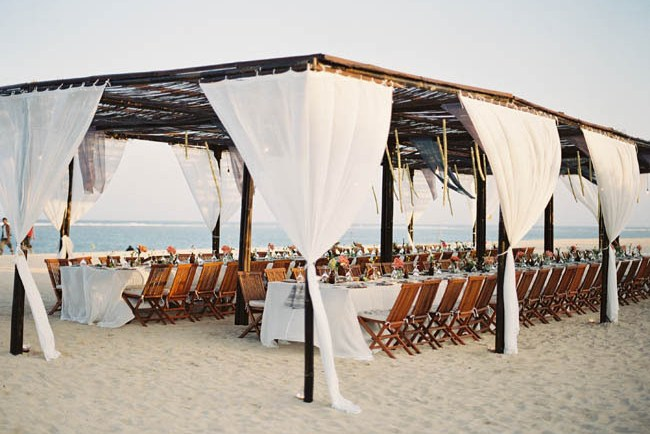 tropical beach tent