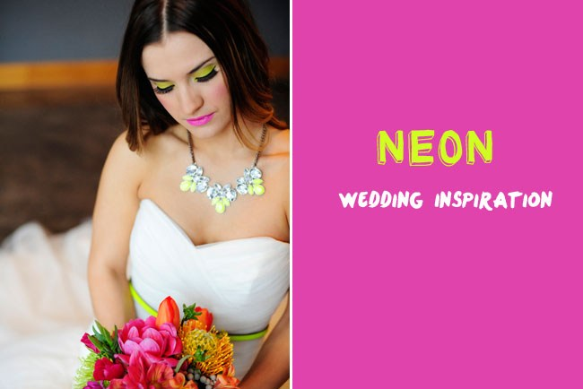 neon wedding inspiration