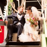 bride and groom ferris wheel