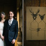 deer wedding illustration