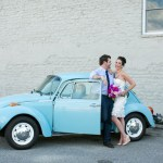blue VW bug