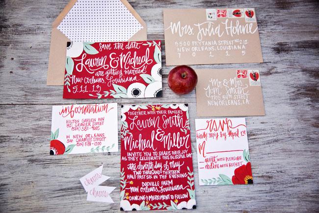 apple invitation set