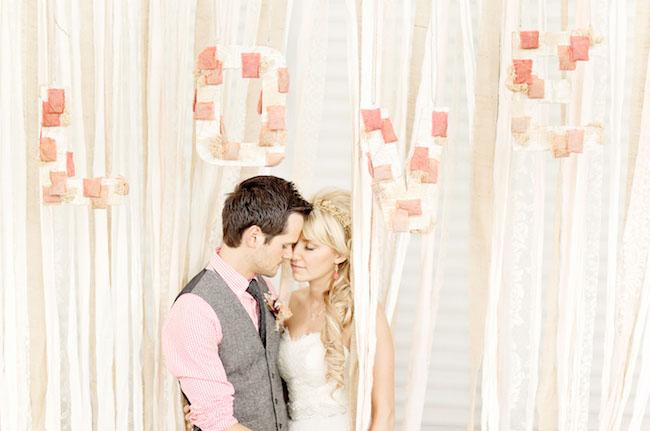 Love ribbon wall