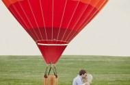 hot air balloon engagement