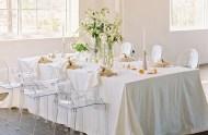 white organic tablescape