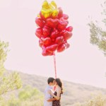 red heart balloon engagement