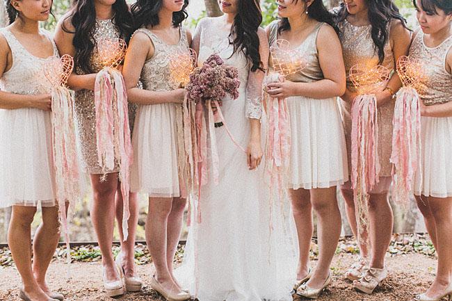 heart lit bouquets