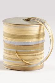 Silver, Natural And Gold Raffia Multi-Tie Ribbon