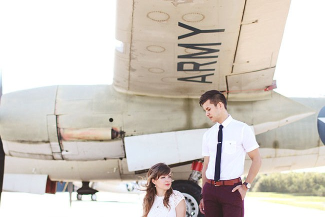 vintage airplane engagement
