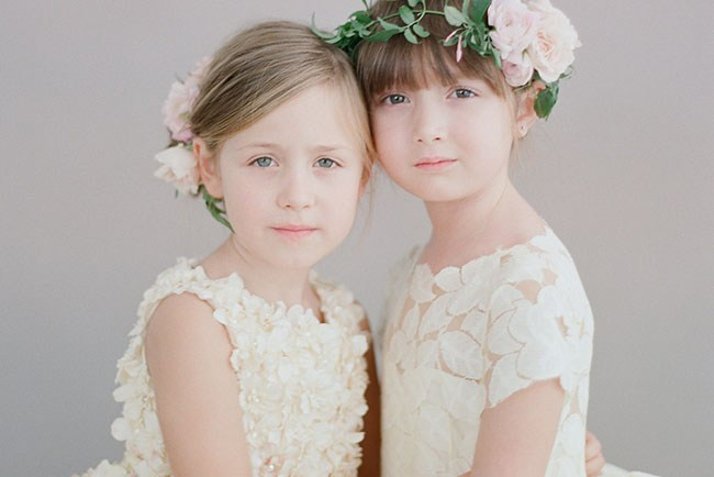 Doloris Petunia flower girl dresses
