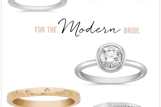 Modern Wedding Rings from Shane Co.