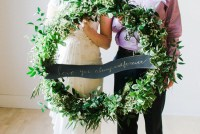 foliage wreath with banner