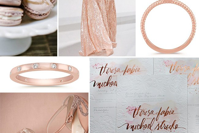 rose gold fall wedding inspiration