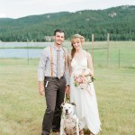 colorado wedding with pup