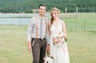 colorado wedding with pup