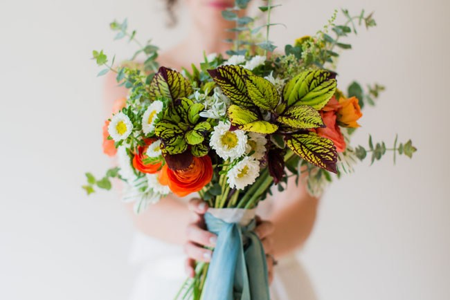 garden wedding inspiration bouquet