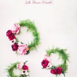 DIY silk flower wreath