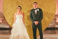 giant gold glitter heart wedding