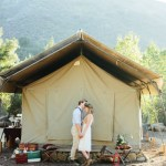 camping elopement shoot