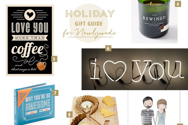 Holiday Gift Guide for Newlyweds