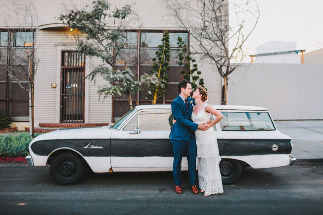 Bright and colorful LA wedding
