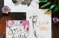 modern watercolor invitation