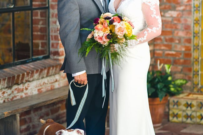 Carondelet wedding with pup
